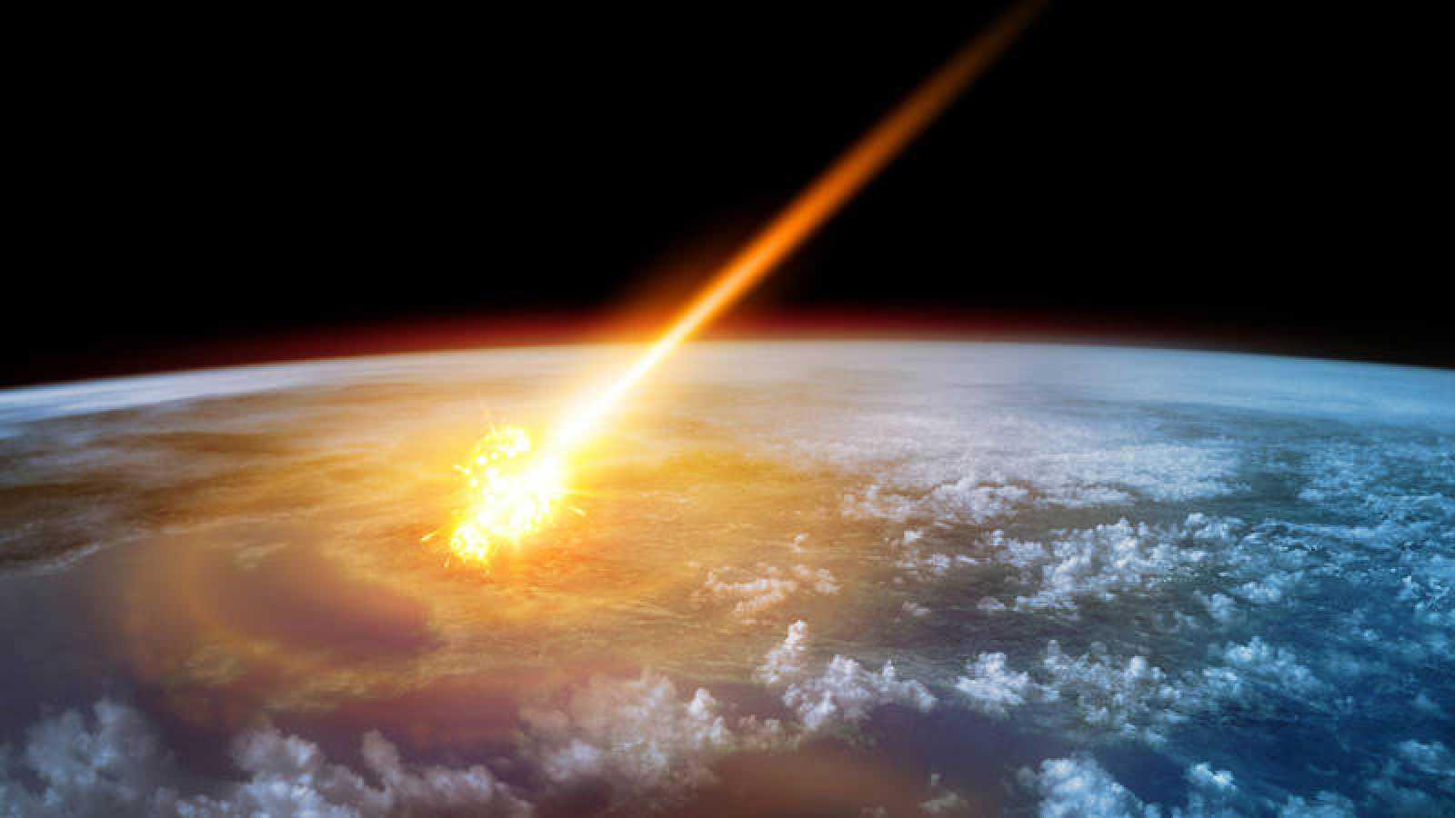 Resultado de imagen de La Caída de un Gran meteorito