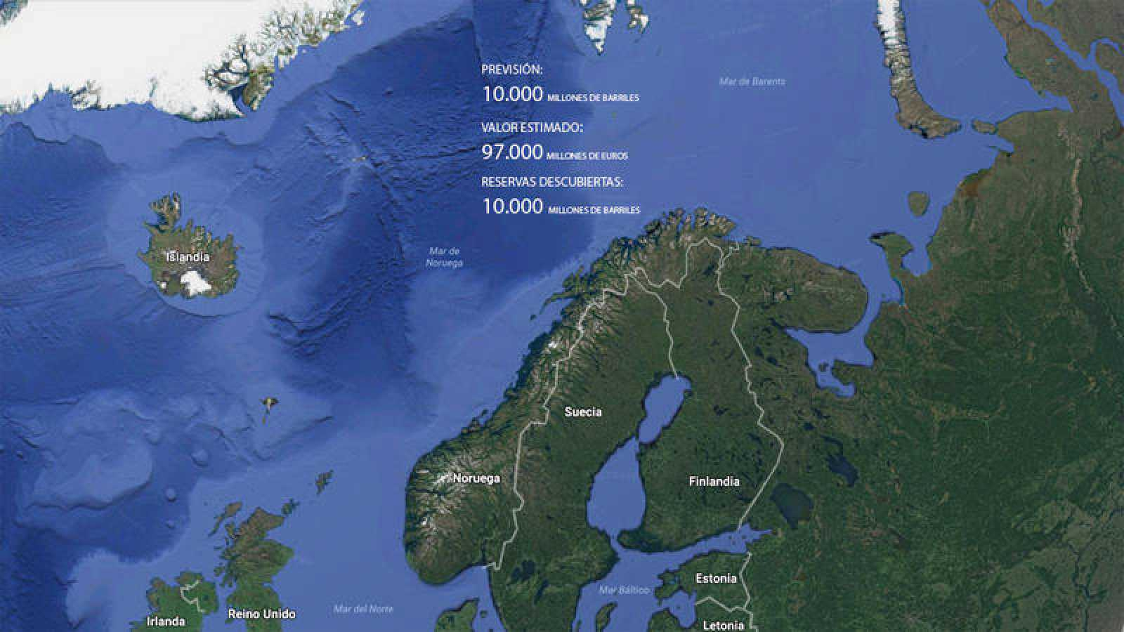 Noruega duplica sus previsiones de petróleo en el mar de Barents