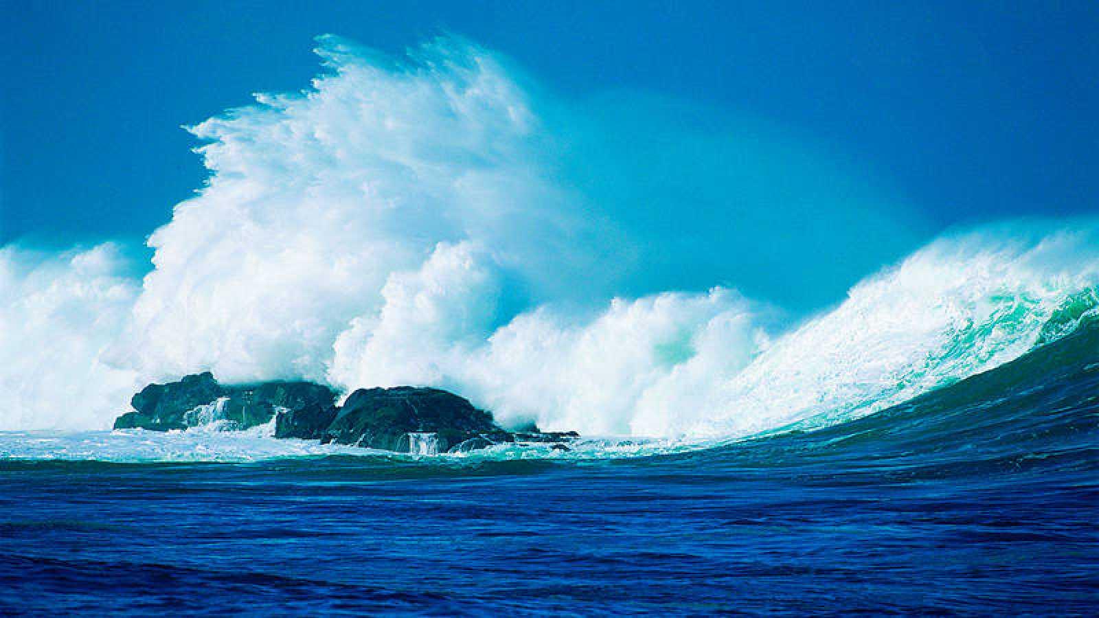 Oleaje en el océano Pacífico