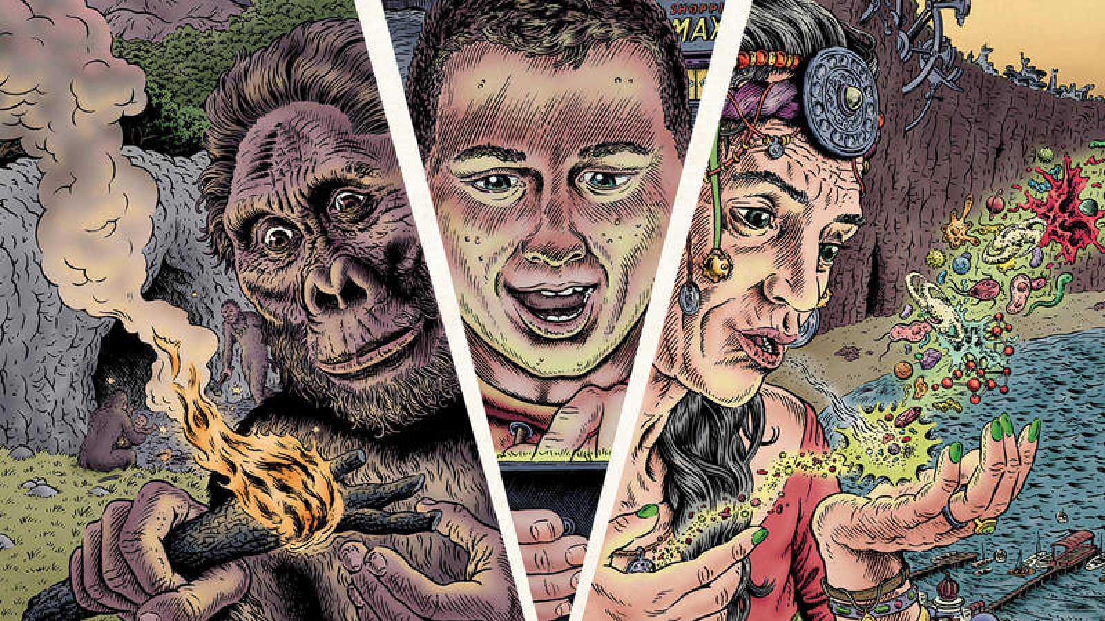 Fragmento de la portada de 'La gran aventura humana'