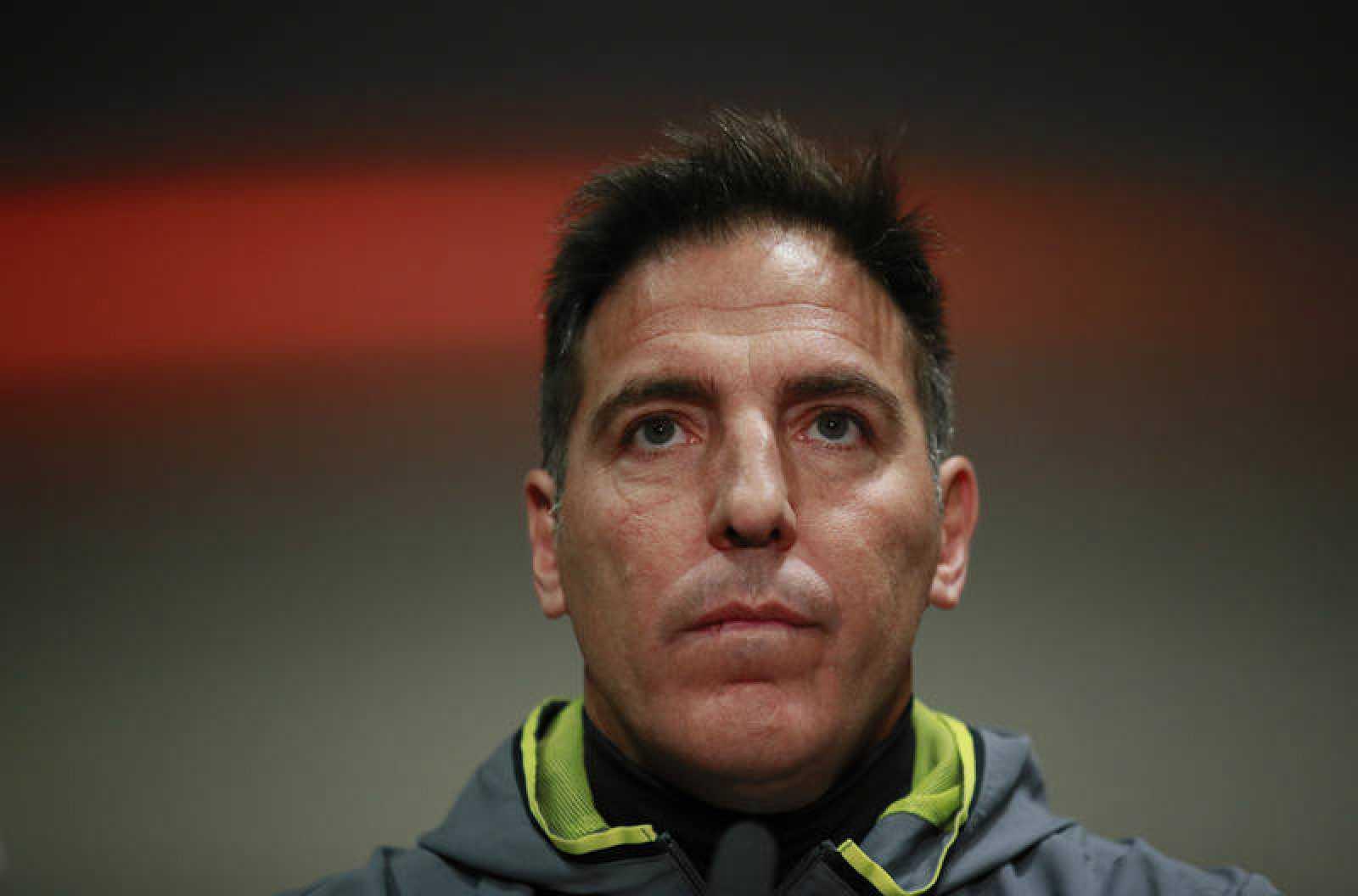 El entrenador del Celta de Vigo Edurado 'Toto' Berizzo durante la rueda de prensa.