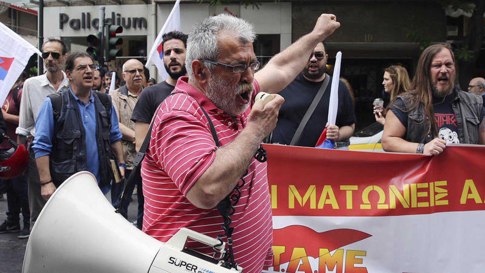 Movilizaciones en la víspera de la huelga general en Grecia