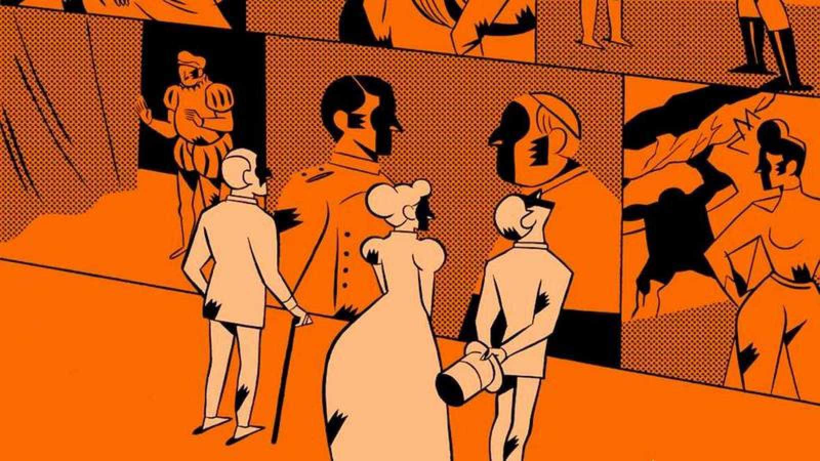 Fragmento de la portada de 'Cómic, arquitectura narrativa'