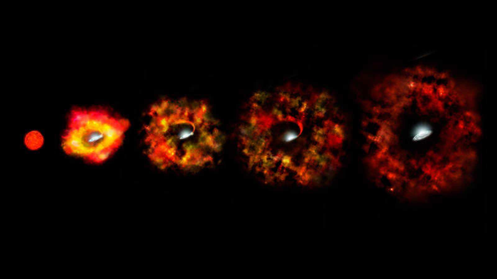 Resultado de imagen de El colapso de las estrellas masivas