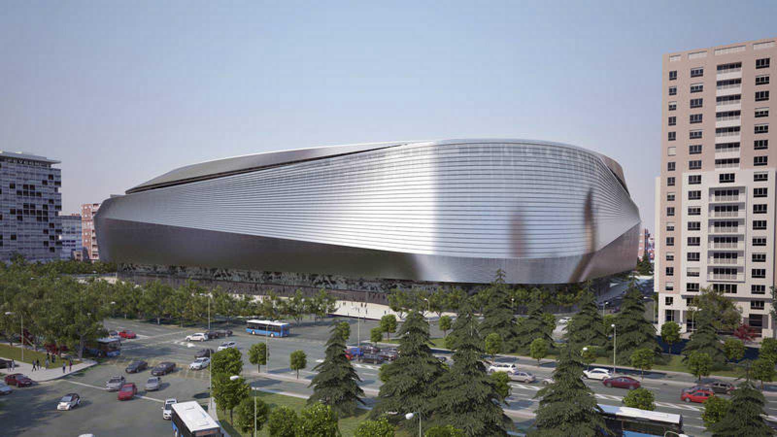 Imagen del proyecto de la remodelación del Santiago Bernabéu.
