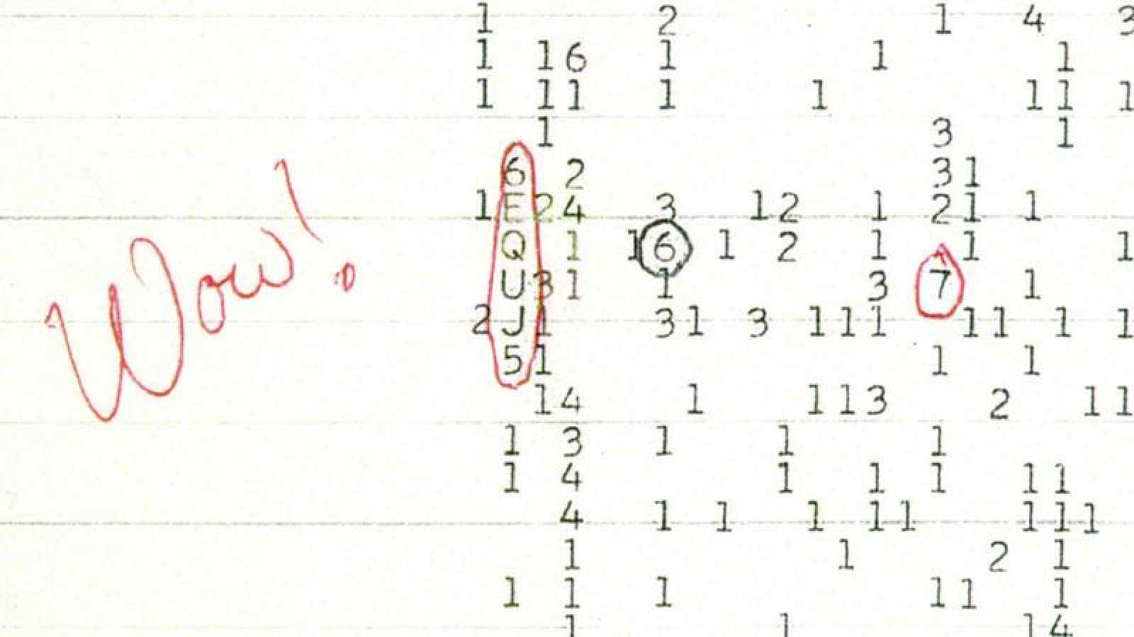 Debido a la sorpresa que le produjo, el astrónomo que descubrió la señal anotó la palabra 'Wow!' en una hoja de papel y dio el nombre al fenómeno.