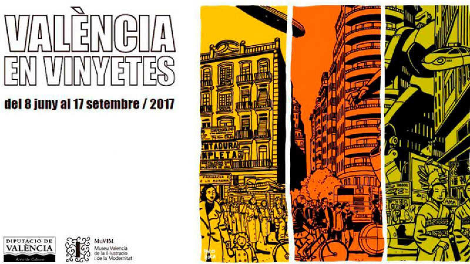 Publicidad de la exposición 'València en vinyetes'