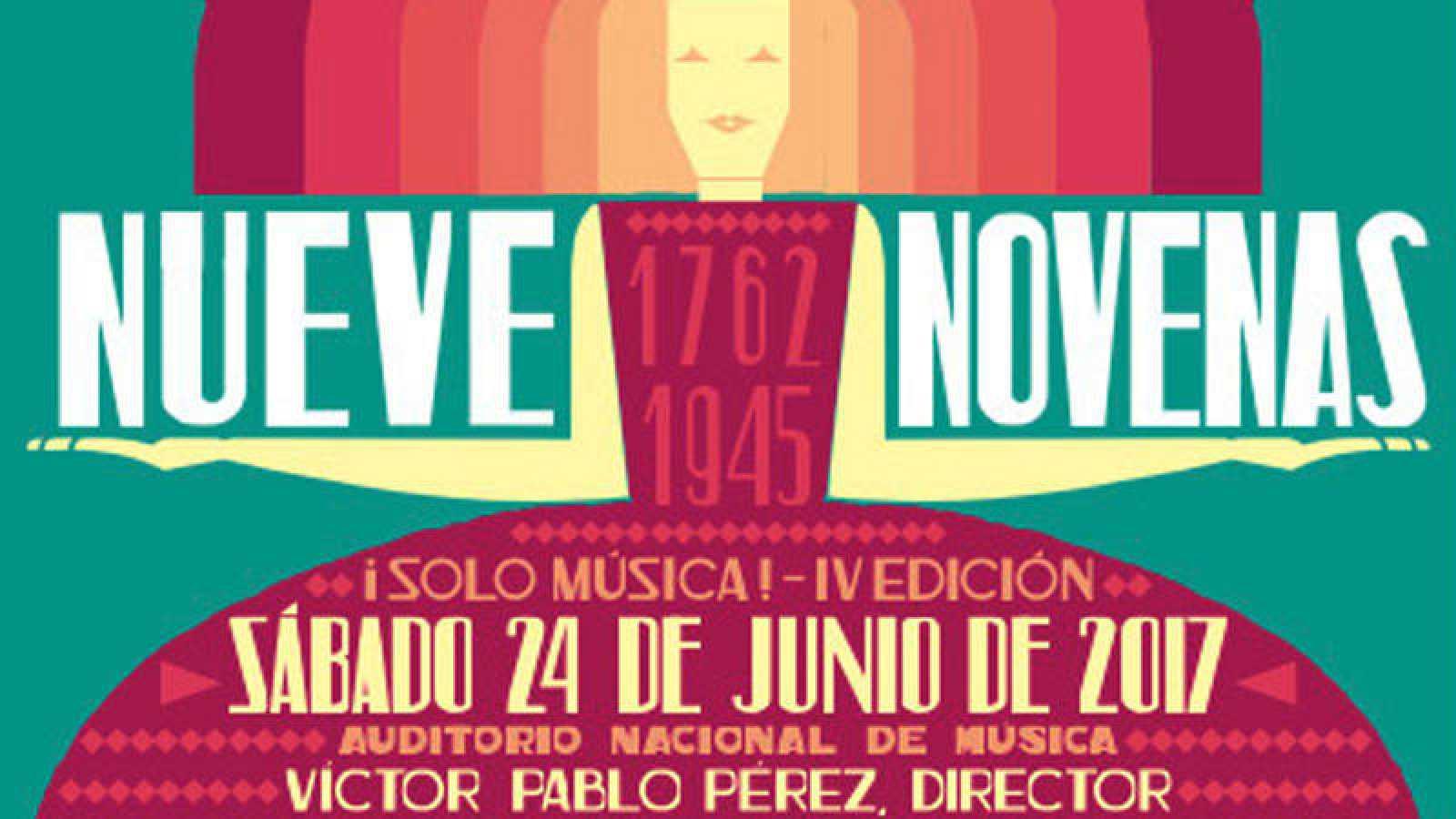 """Cartel anunciador del evento """"¡Solo música! - Nueve novenas"""""""