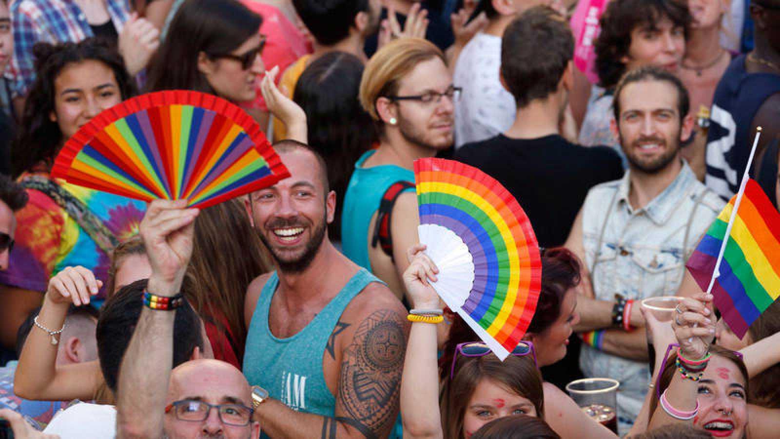 Asistentes al Orgullo Gay 2016 de Madrid