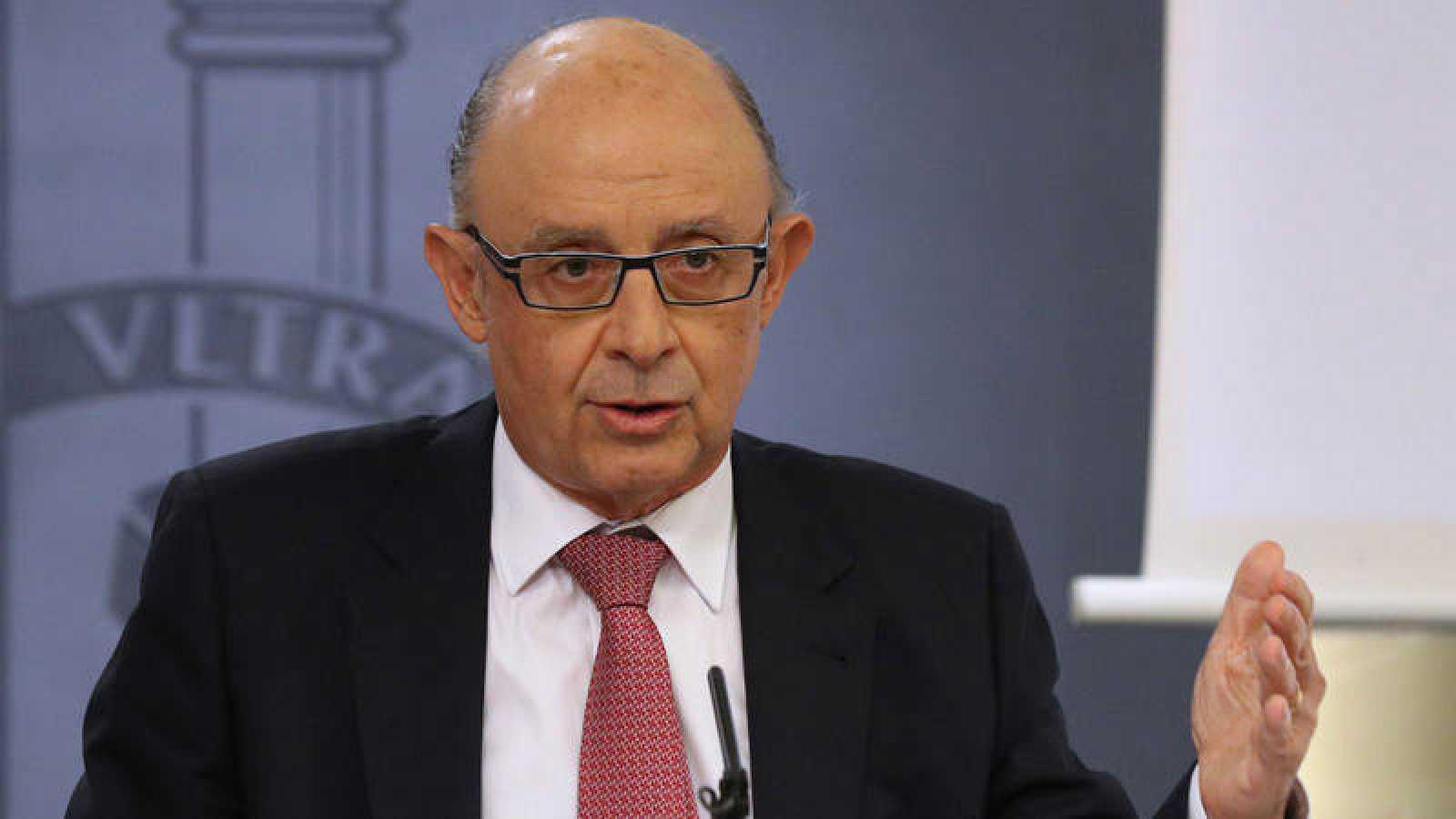 El ministro de Hacienda, Cristóbal Montoro, en una imagen de archivo