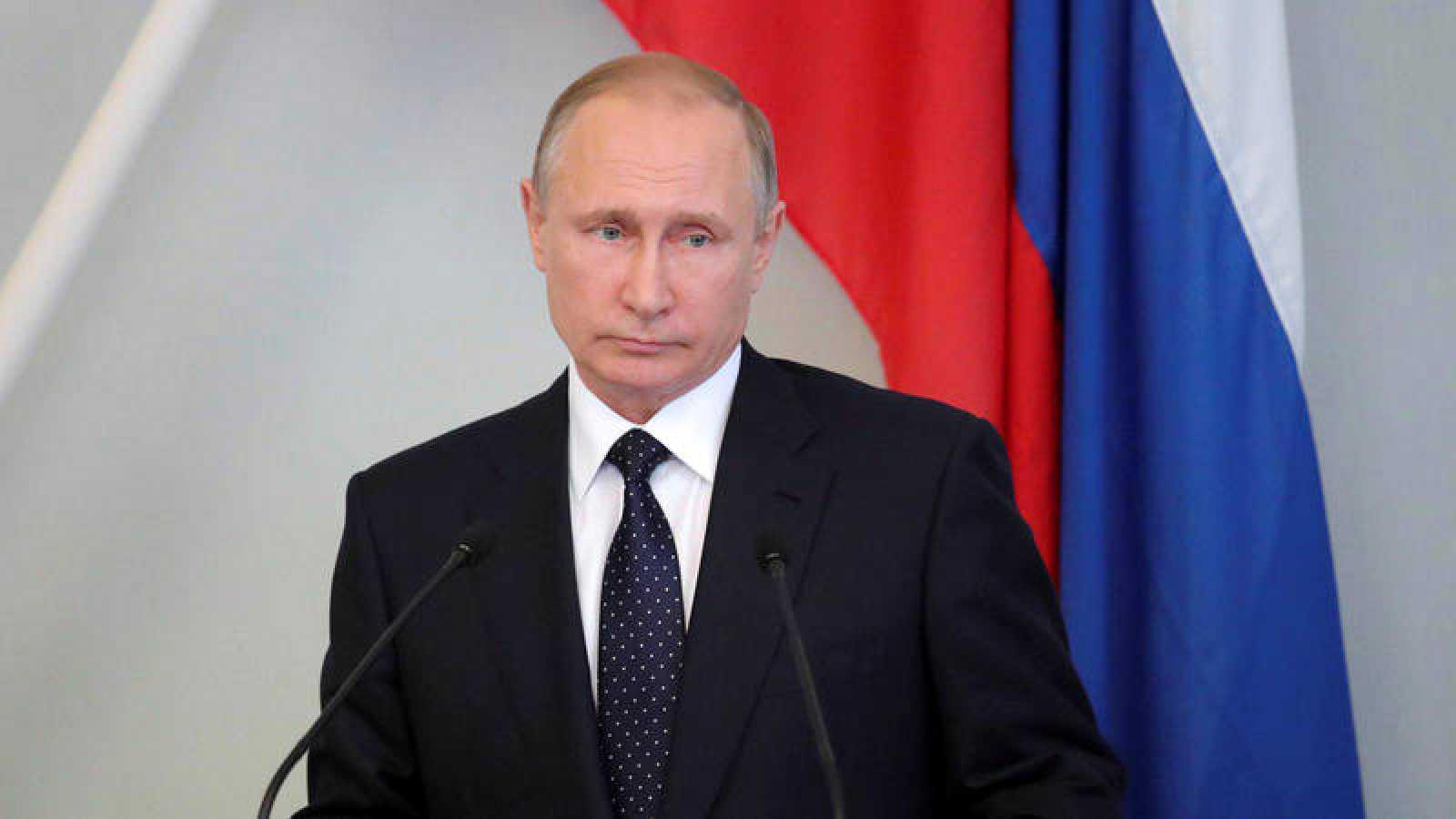 El presidente ruso, Vladimir Putin, durante una conferencia en Finlandia.