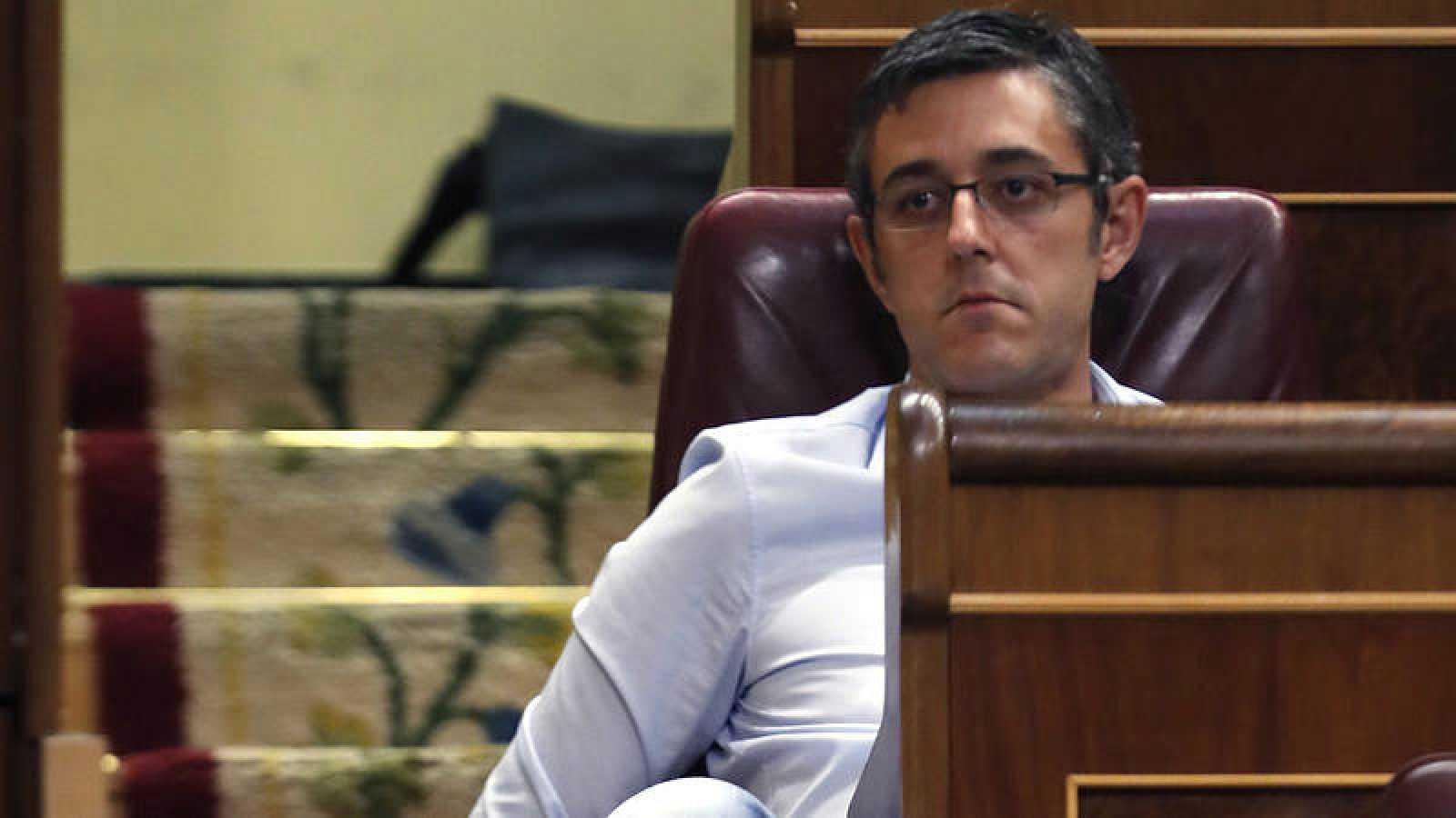 Eduardo Madina, en su escaño en el Congreso