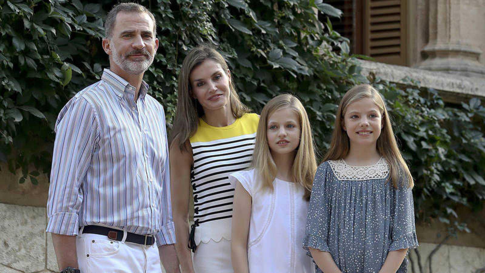 Los reyes y sus hijas, en el posado veraniego en Marivent durante las vacaciones de la Familia Real en Palma