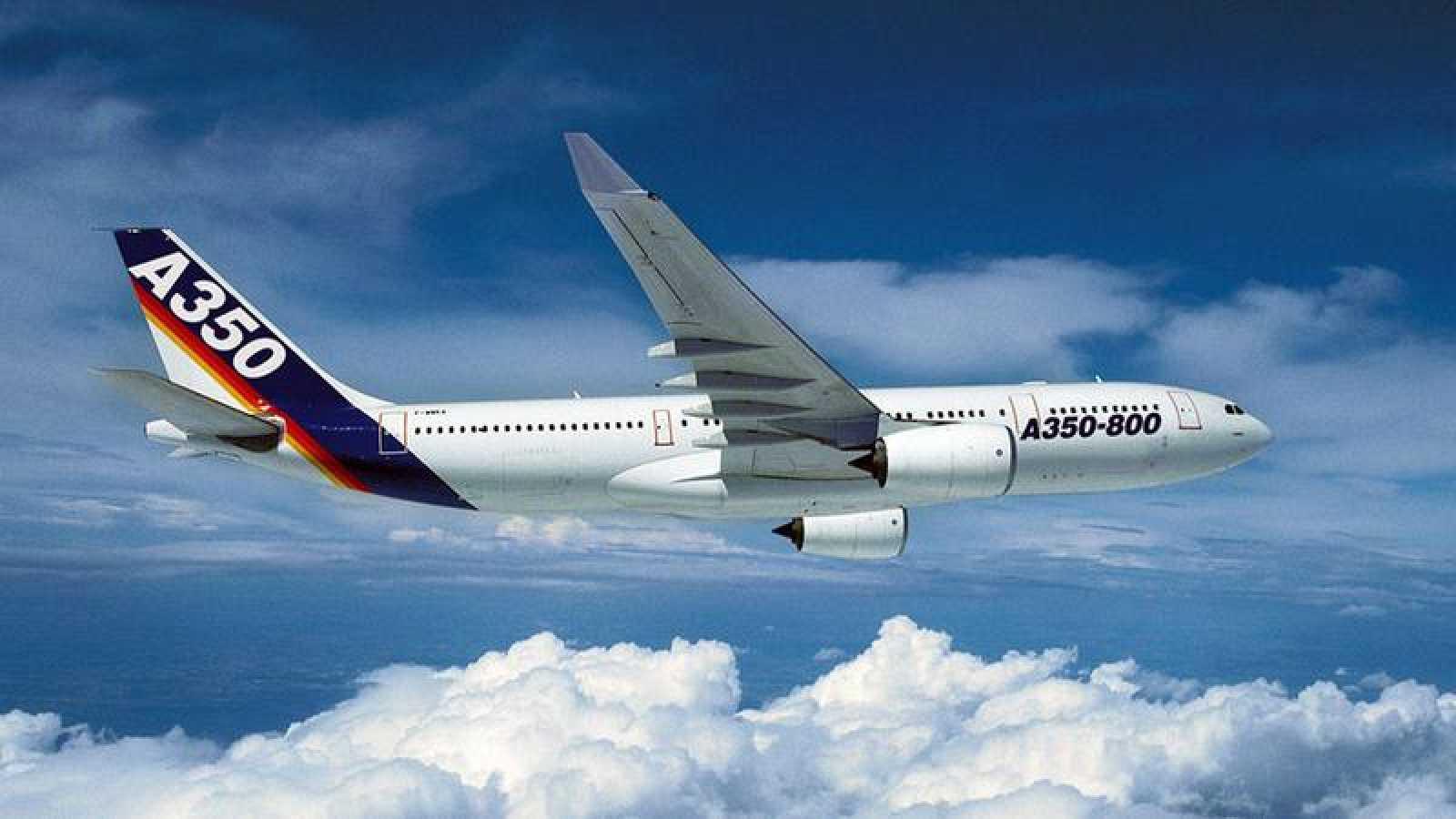 Un Airbus A350 en una imagen de archivo