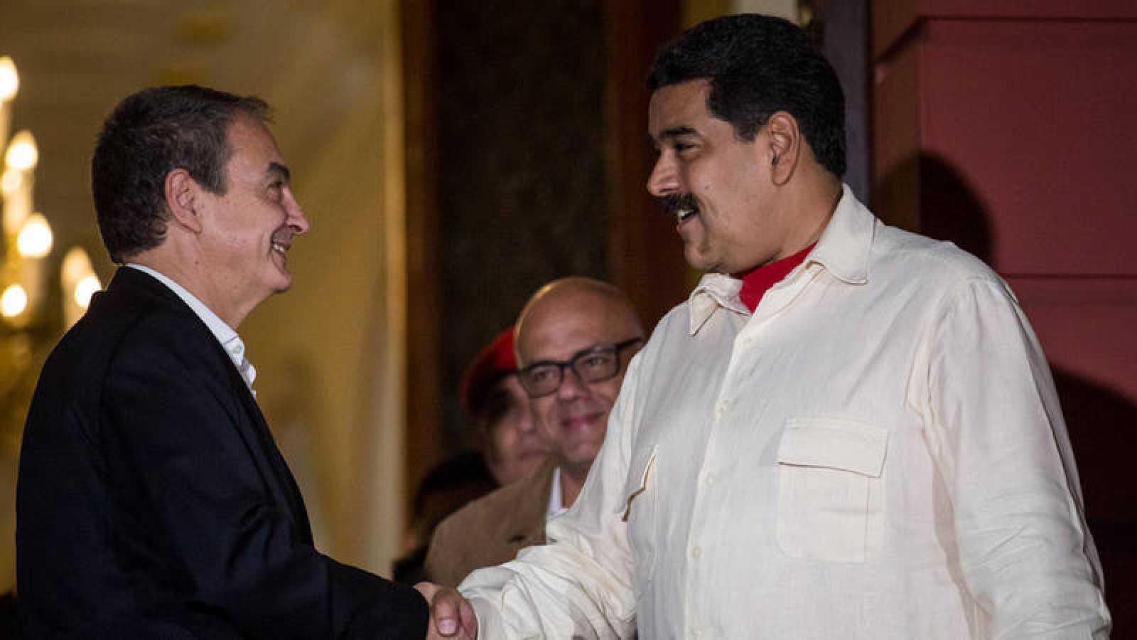 Imagen de archivo de una reunión de José Luis Rodríguez Zapatero y Nicolás Maduro