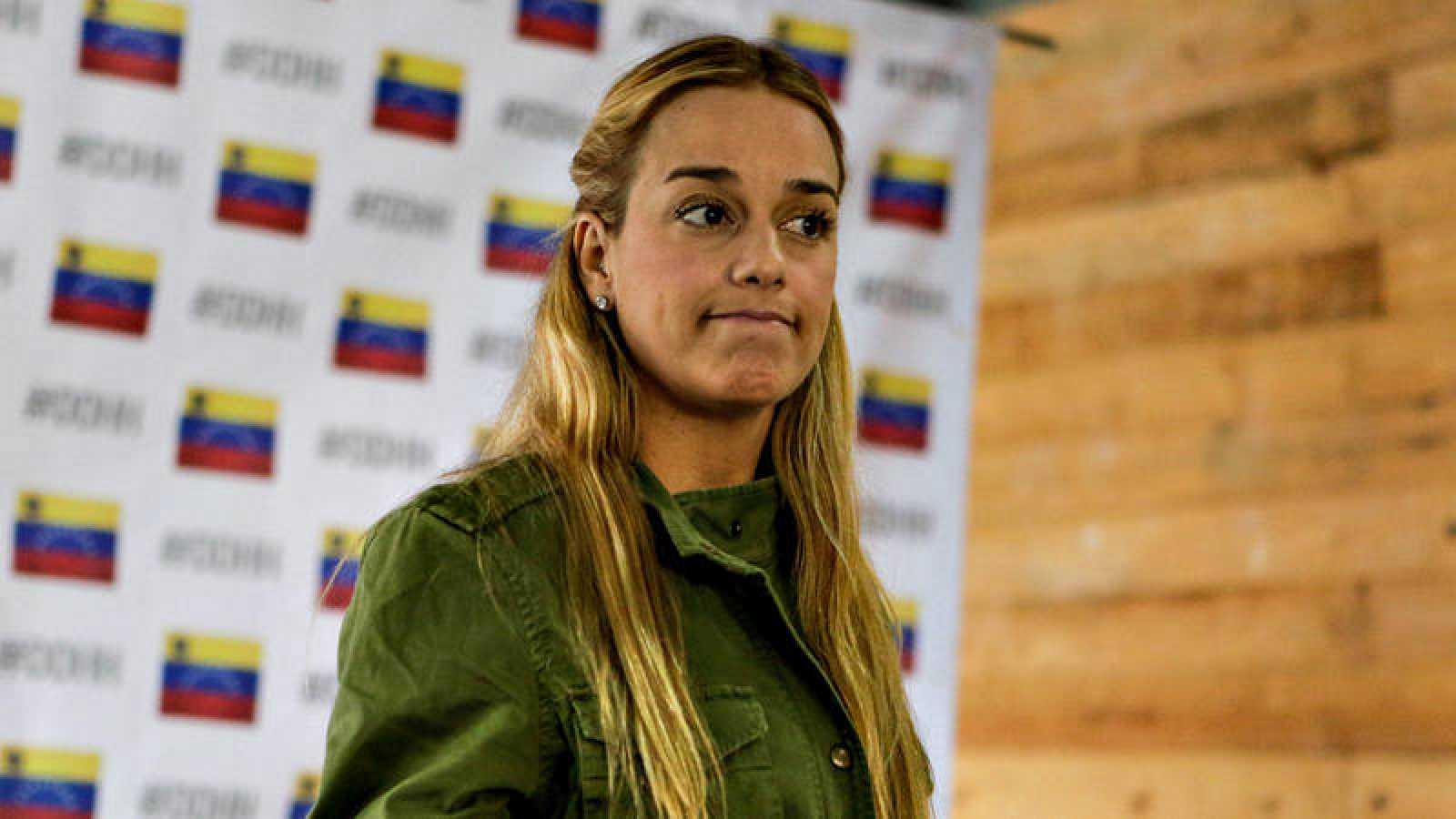 La opositora venezolana Lilian Tintori, en un acto reciente en Caracas