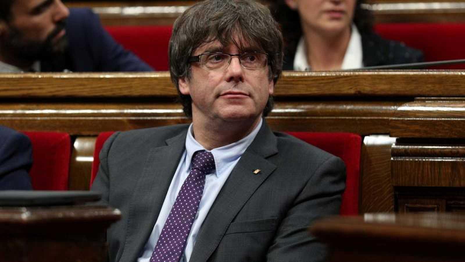 Carles Puigdemont, presidente de Cataluña.