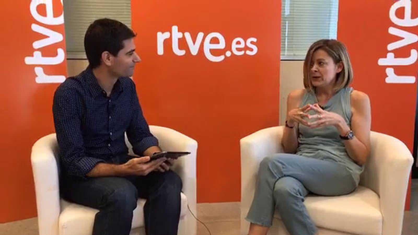 Rubén Vidal y Pepa Fernández, en un momento del videoencuentro.