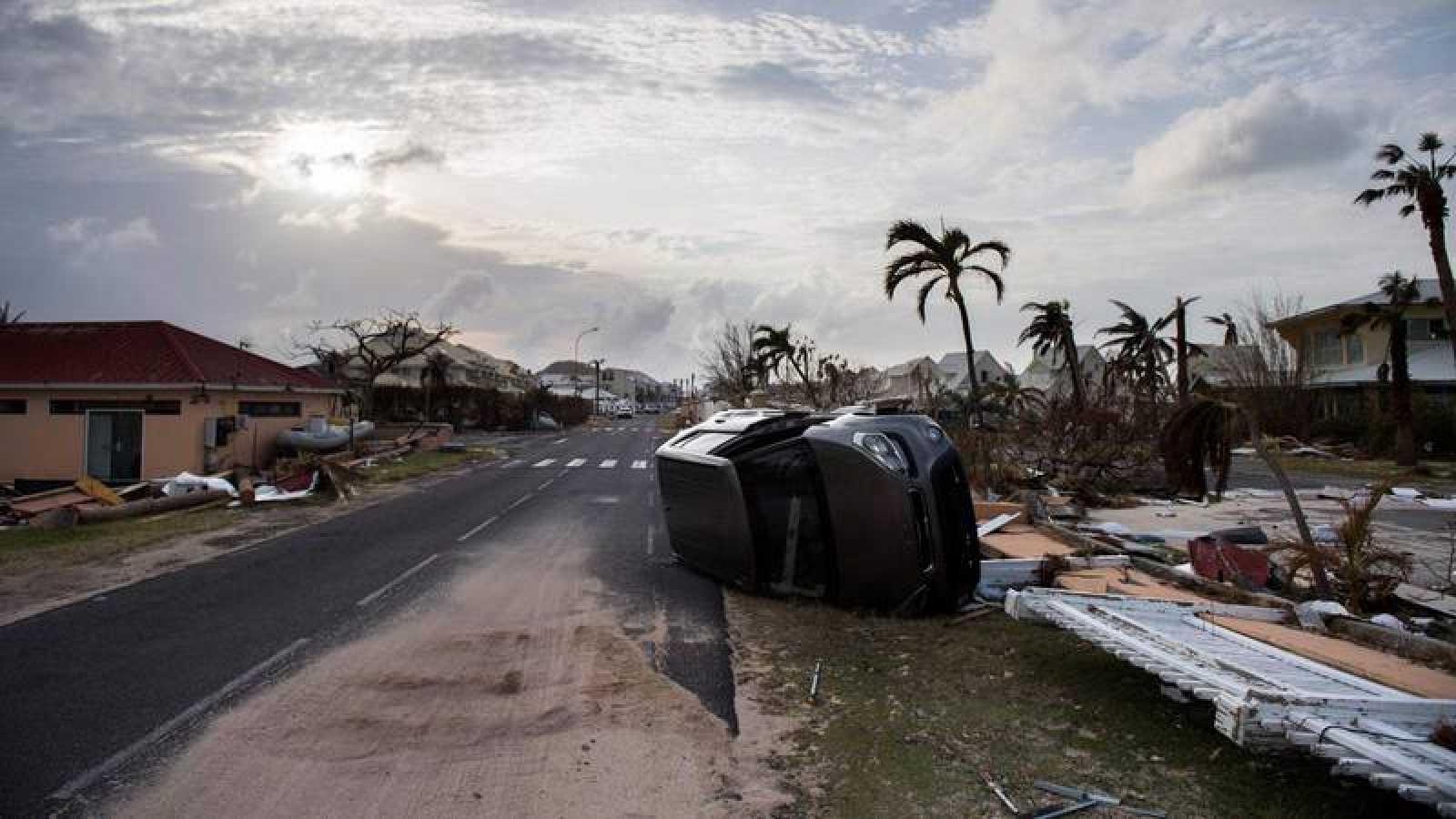 Efectos provocados por el huracán Irma a su paso por la isla de San Martín.