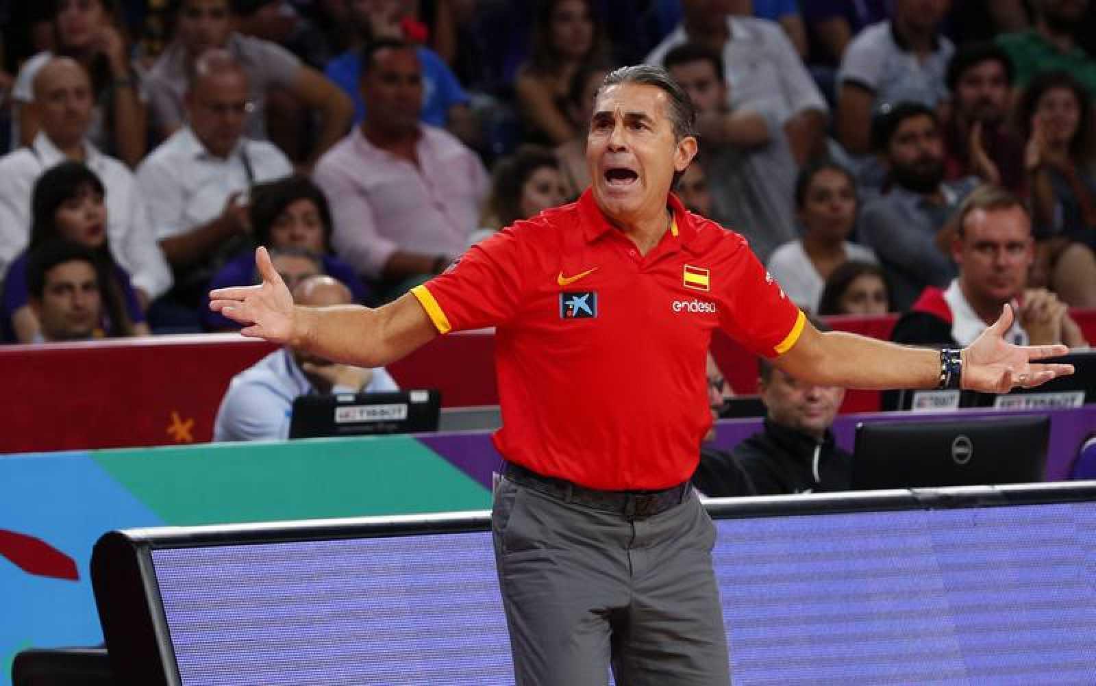 El técnico italiano de la selección española de baloncesto, Sergio Scariolo.