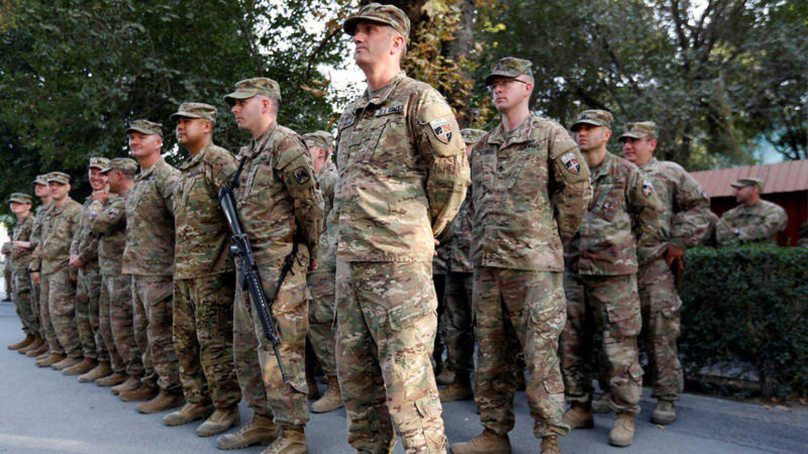 Tropas americanas en Kabul recuerdan los atentados del 11S