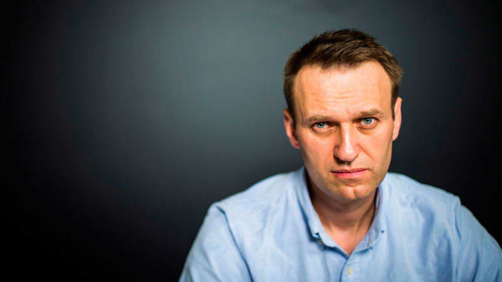 El líder de la oposición rusa Alexéi Navalny, en su oficina en Moscú