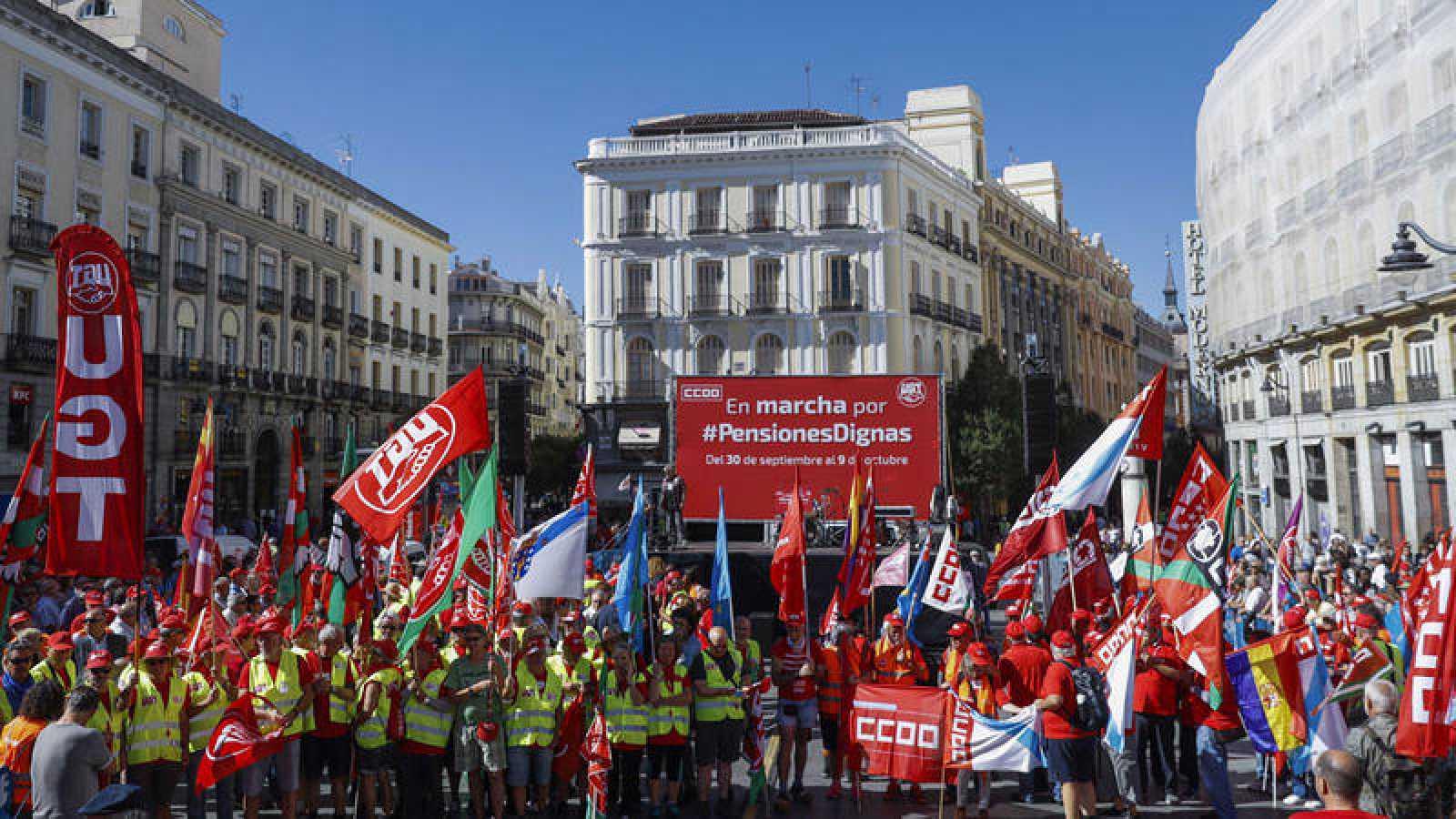 Miles de jubilados reclaman unas pensiones dignas