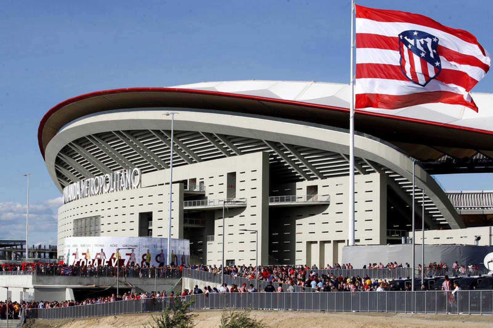Vista exterior del Wanda Metropolitano, nuevo estadio del Atlético de Madrid.