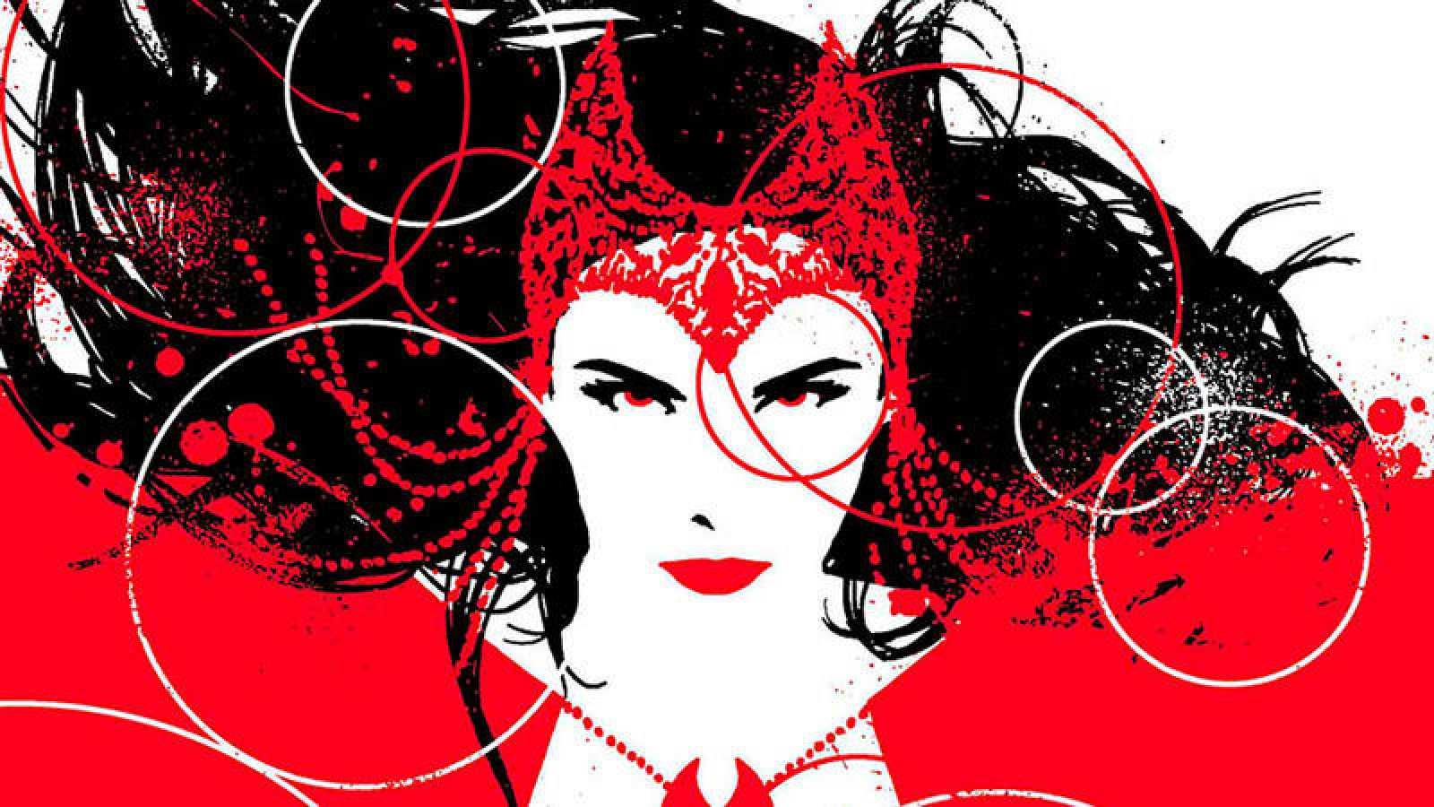 Fragmento de una portada de 'La bruja Escarlata', de David Aja