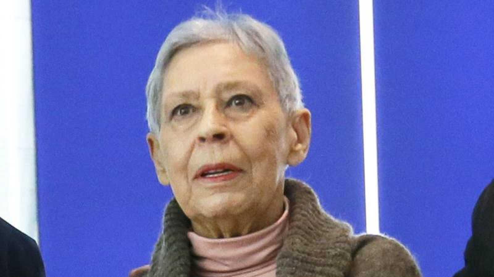 Isabel Quintanilla, en la presentación en el Museo Thyssen-Bornemisza de 'Realistas de Madrid'.