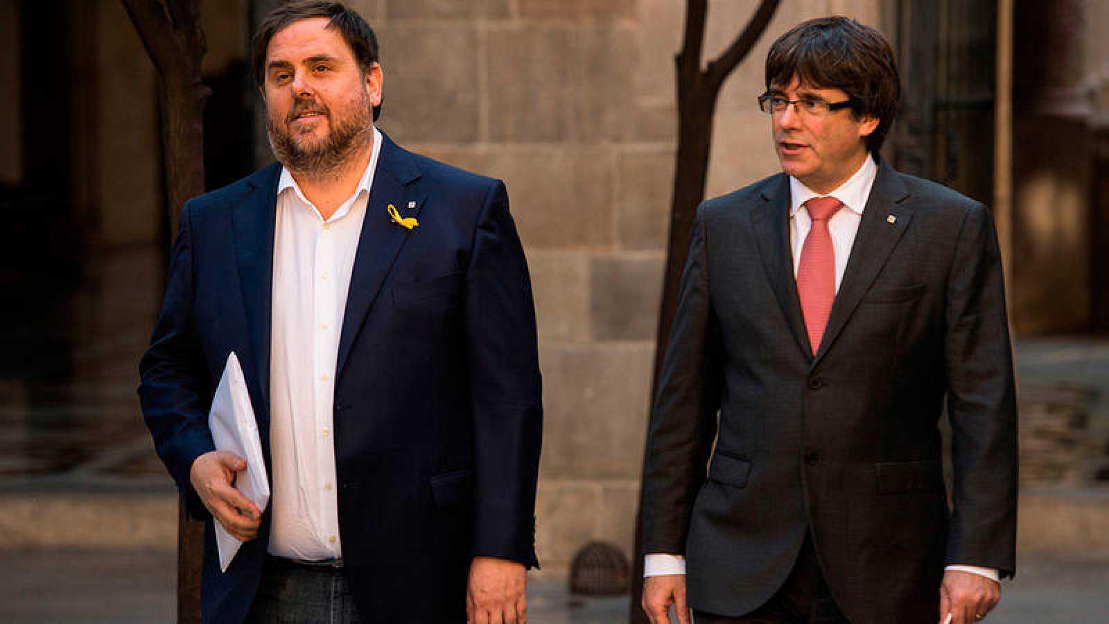 Oriol Junqueras y Carles Pugidemont en una imagen de archivo