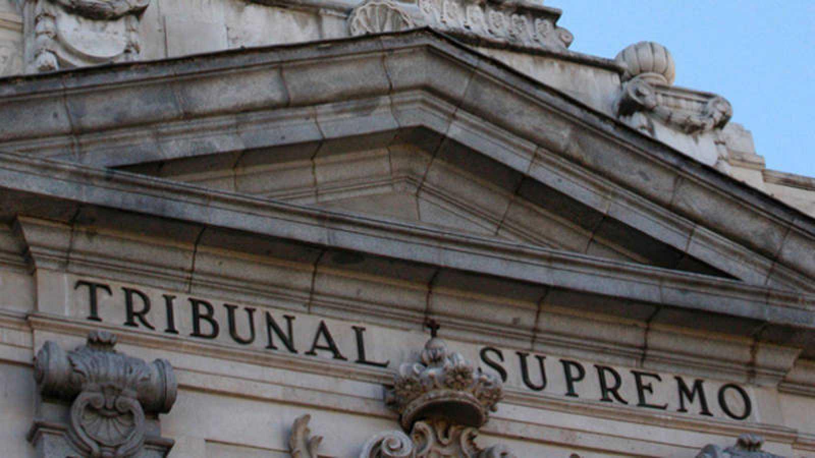 Detalle de la fachada del Tribunal Supremo