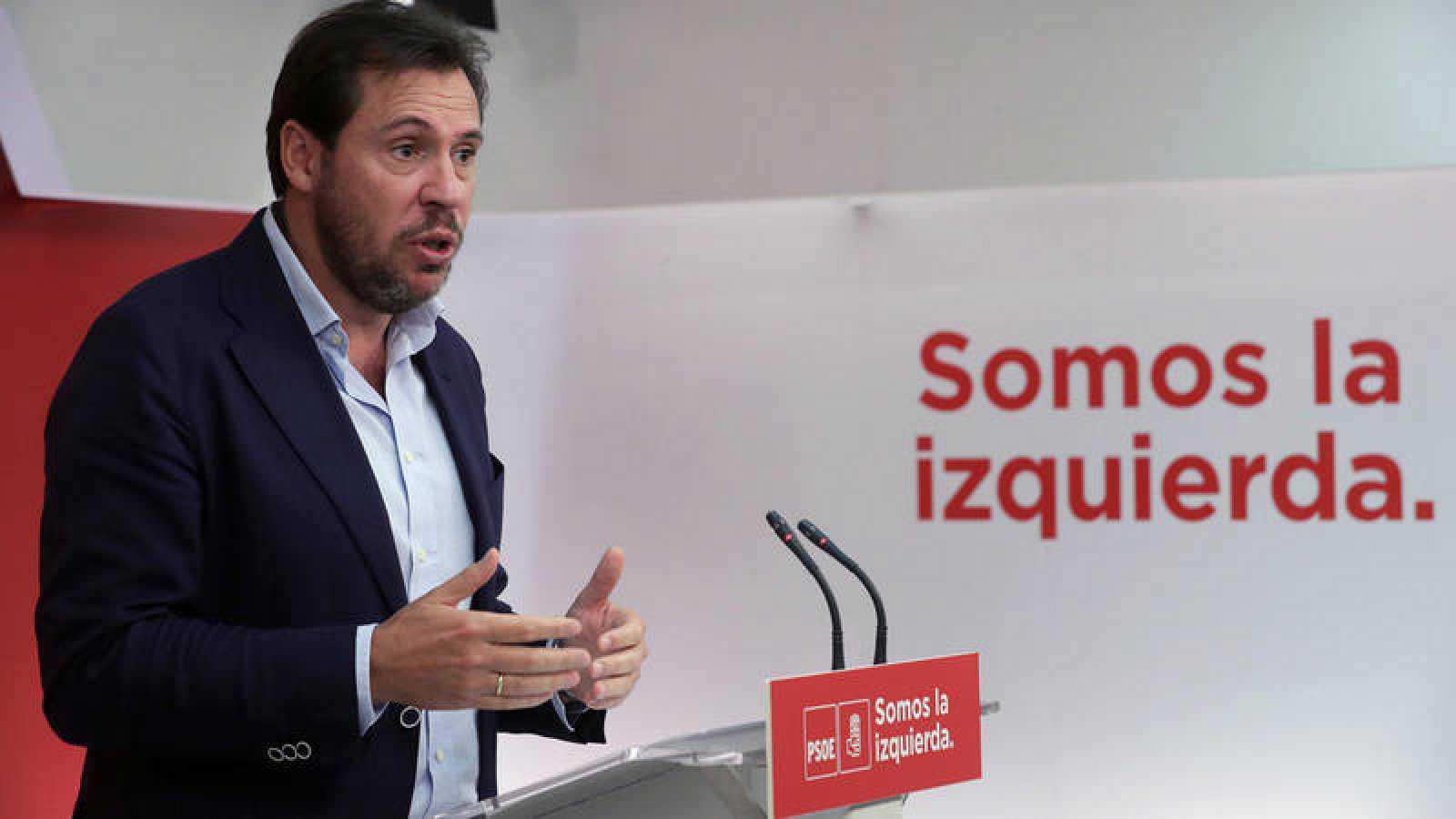 El portavoz de la Ejecutiva del PSOE, Óscar Puente