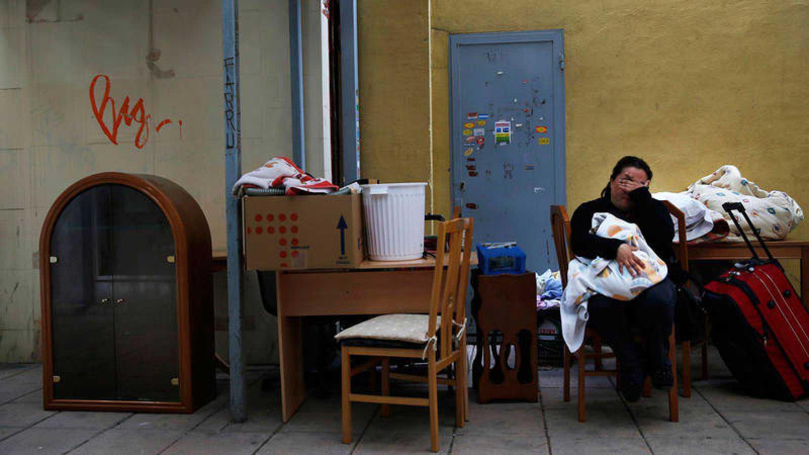 Claudia, una de las personas desahuciadas en España en 2014