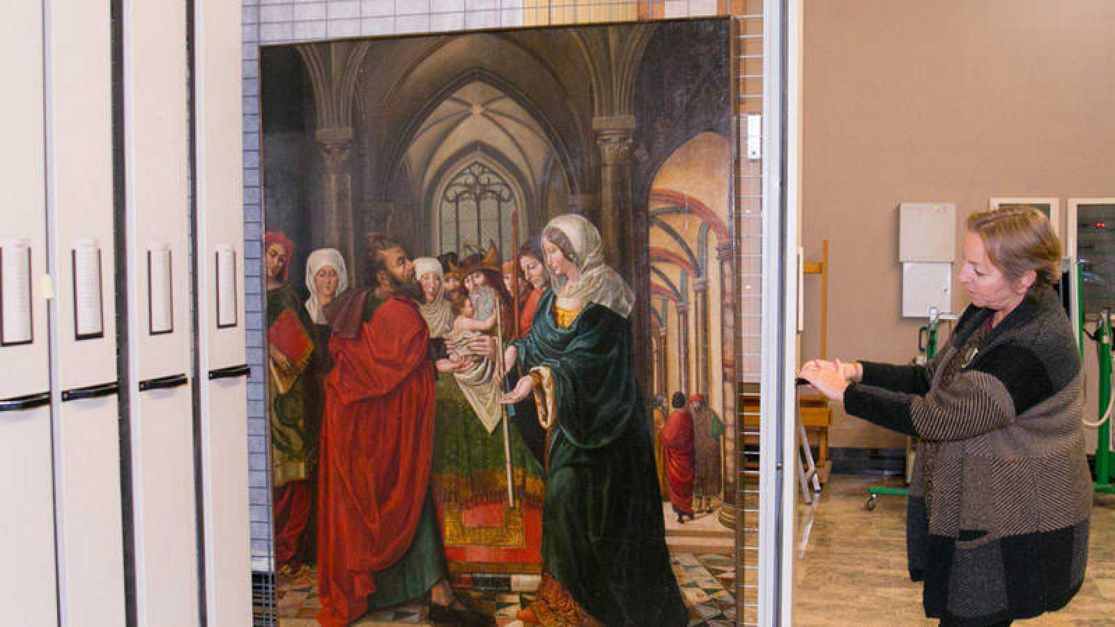 Museo de Zaragoza custodia una tabla de Sijena a expensas del fin del litigio