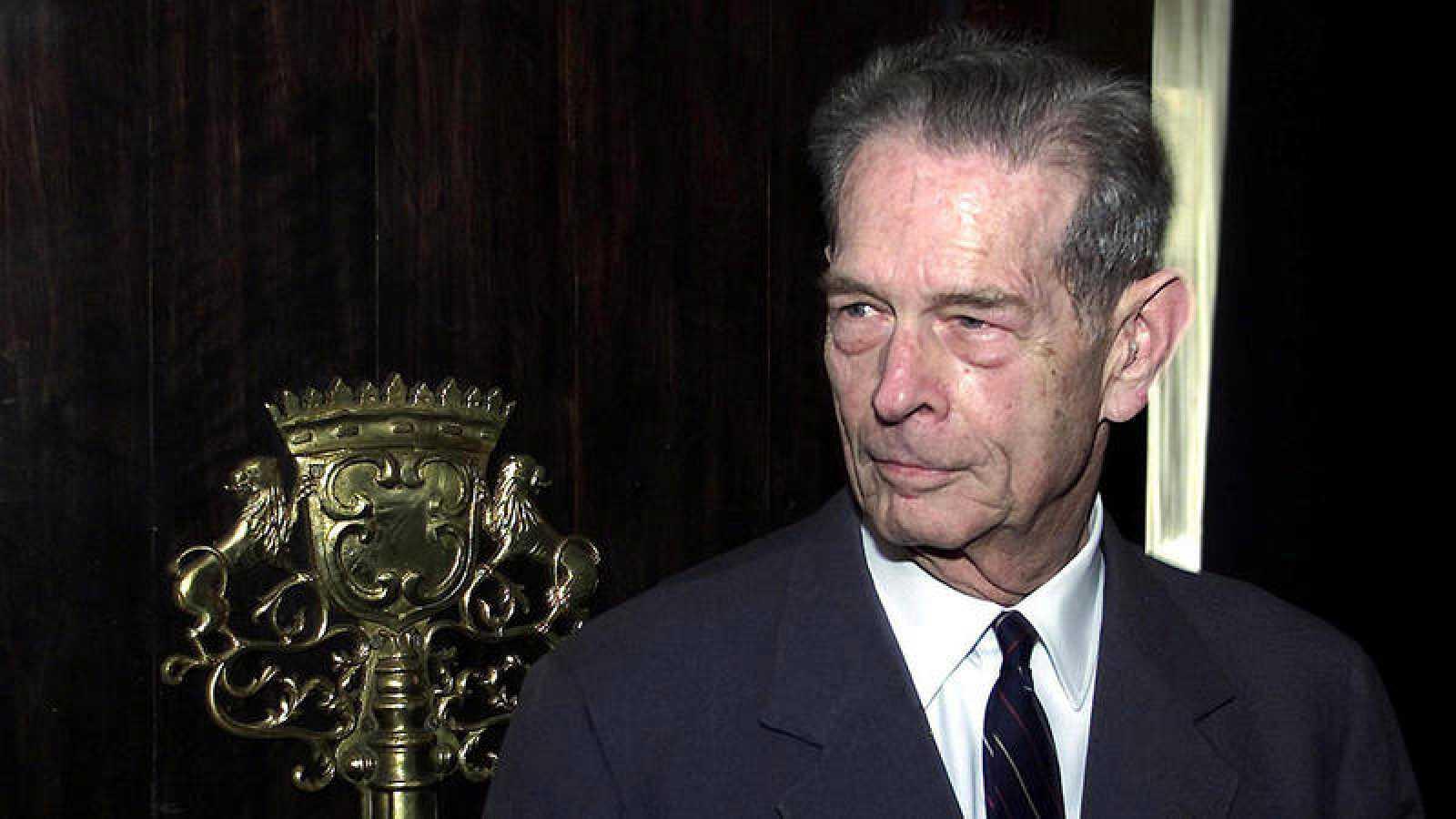 El ex rey de Rumania Miguel I, en Bucarest en 2001