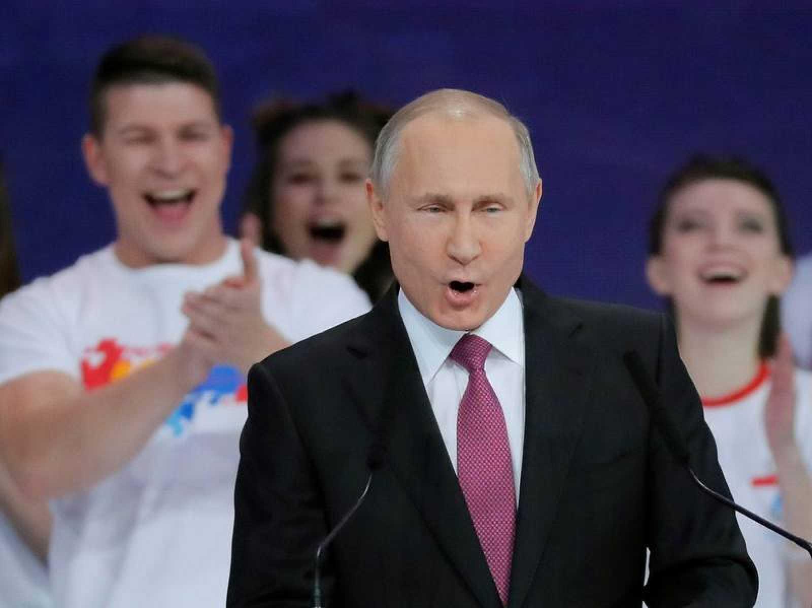 El presidente ruso, Vladímir Putin, durante un discurso en Moscú (Rusia).