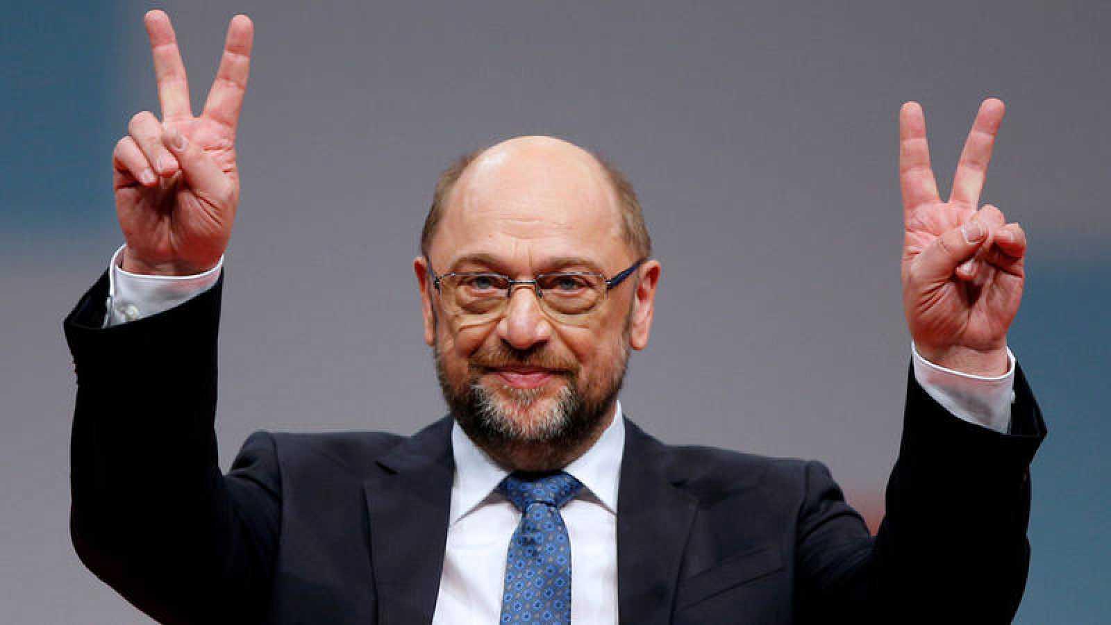 El presidente del Partido Socialdemocráta durante el congreso federal en Berlín