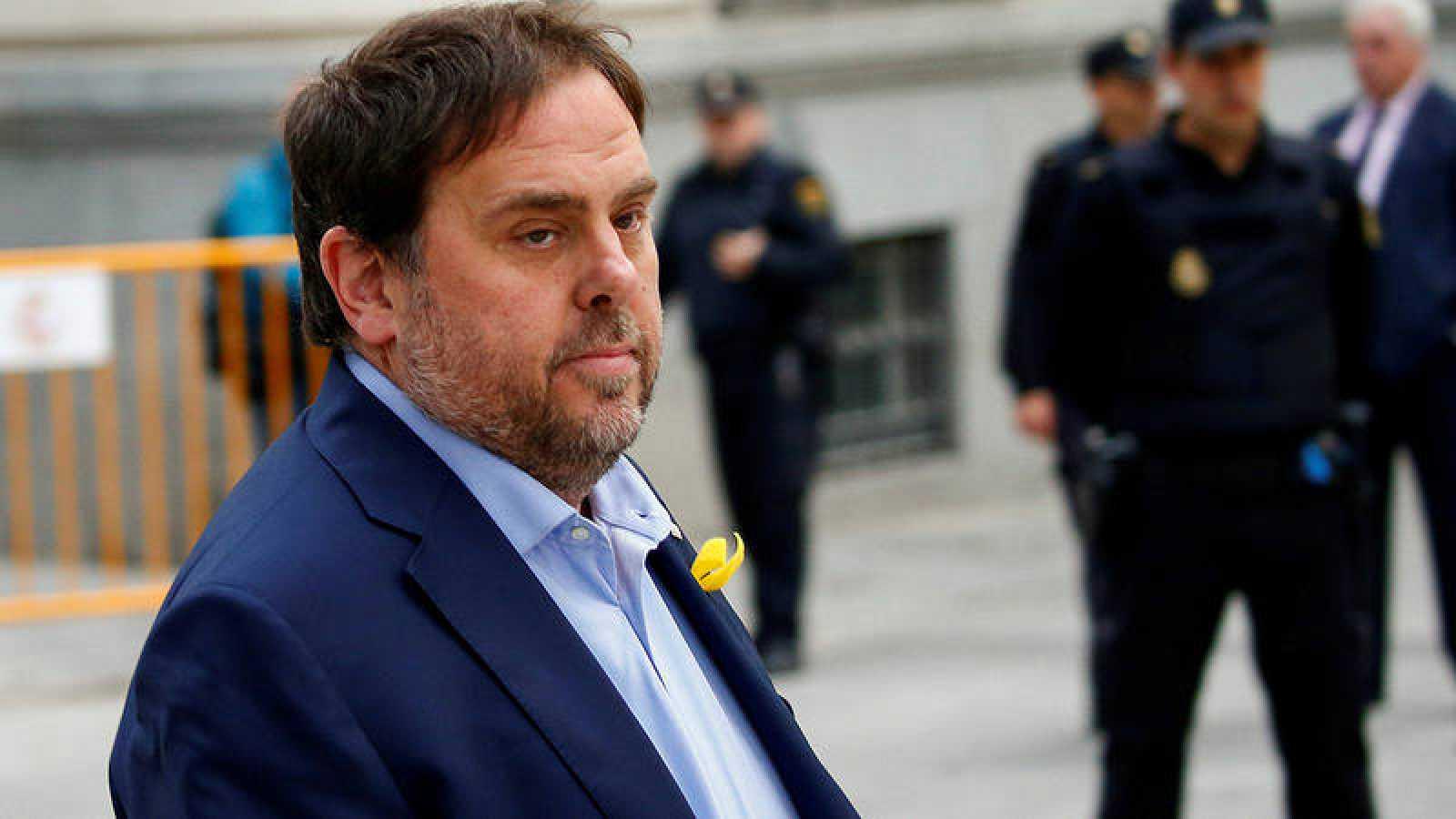 Oriol Junqueras está en prisión preventiva por su implicación en el sumario abierto por el procés hacia la declaración unilateral de independencia en Cataluña.