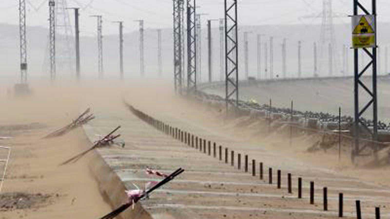Vista de las obras del proyecto del tren de alta velocidad que unirá La Meca con la ciudad de Medina