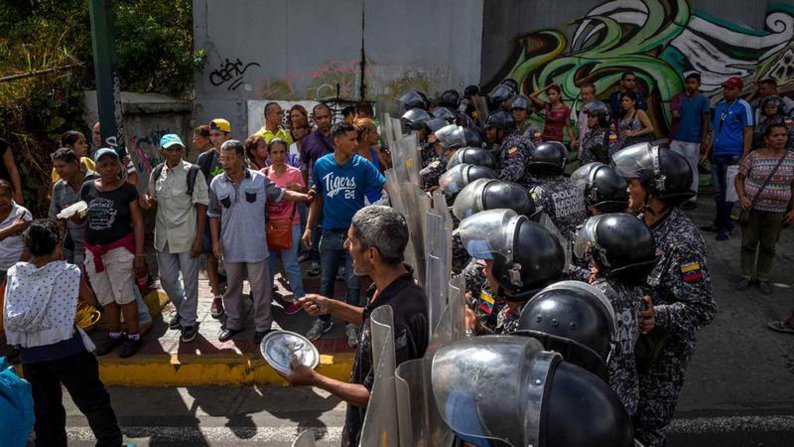 Protesta en Venezuela por la escasez de alimentos el pasado 28 de diciembre