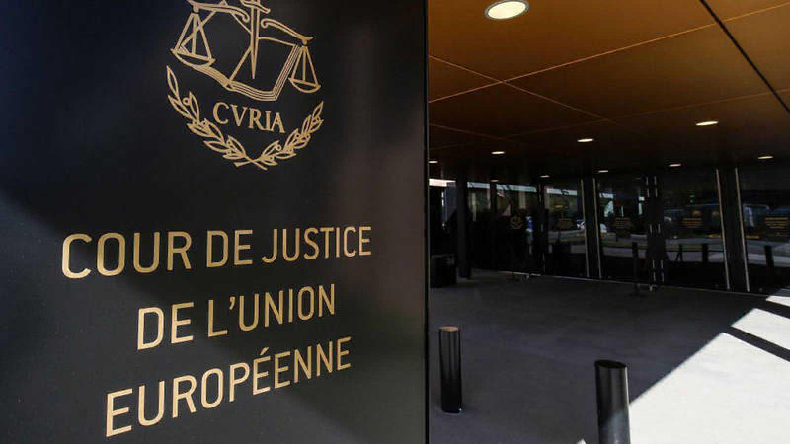 Entrada de la sede en Luxemburgo del Tribunal de Justicia de la UE