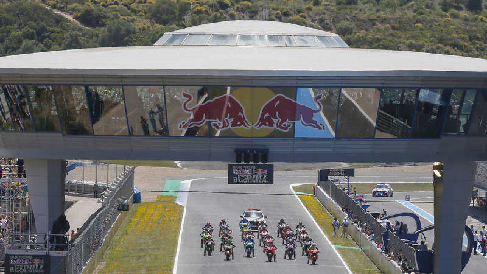 Imagen del GP de España de MotoGP en el circuito de Jerez.
