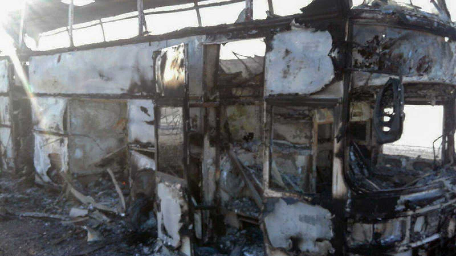 Autobús siniestrado en Kazajistán