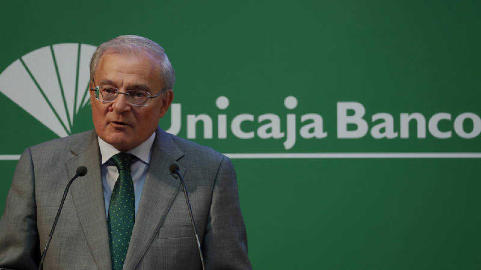 El presidente de Unicaja Banco, Manuel Azuaga
