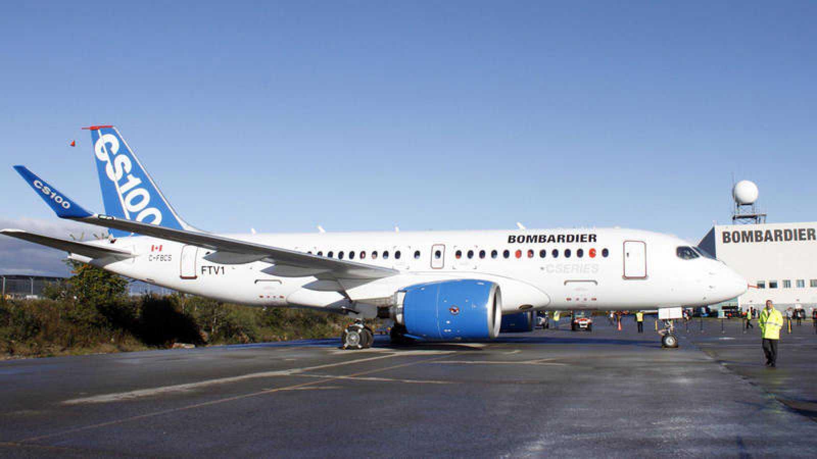 Una aeronave de Bombardier en Quebec
