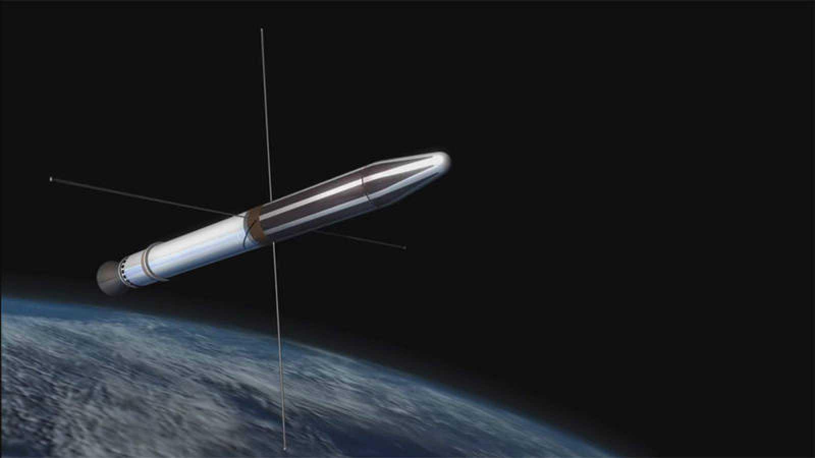"""Fotografía cedida por la NASA en la que aparece una representación del """"Explorer 1""""."""