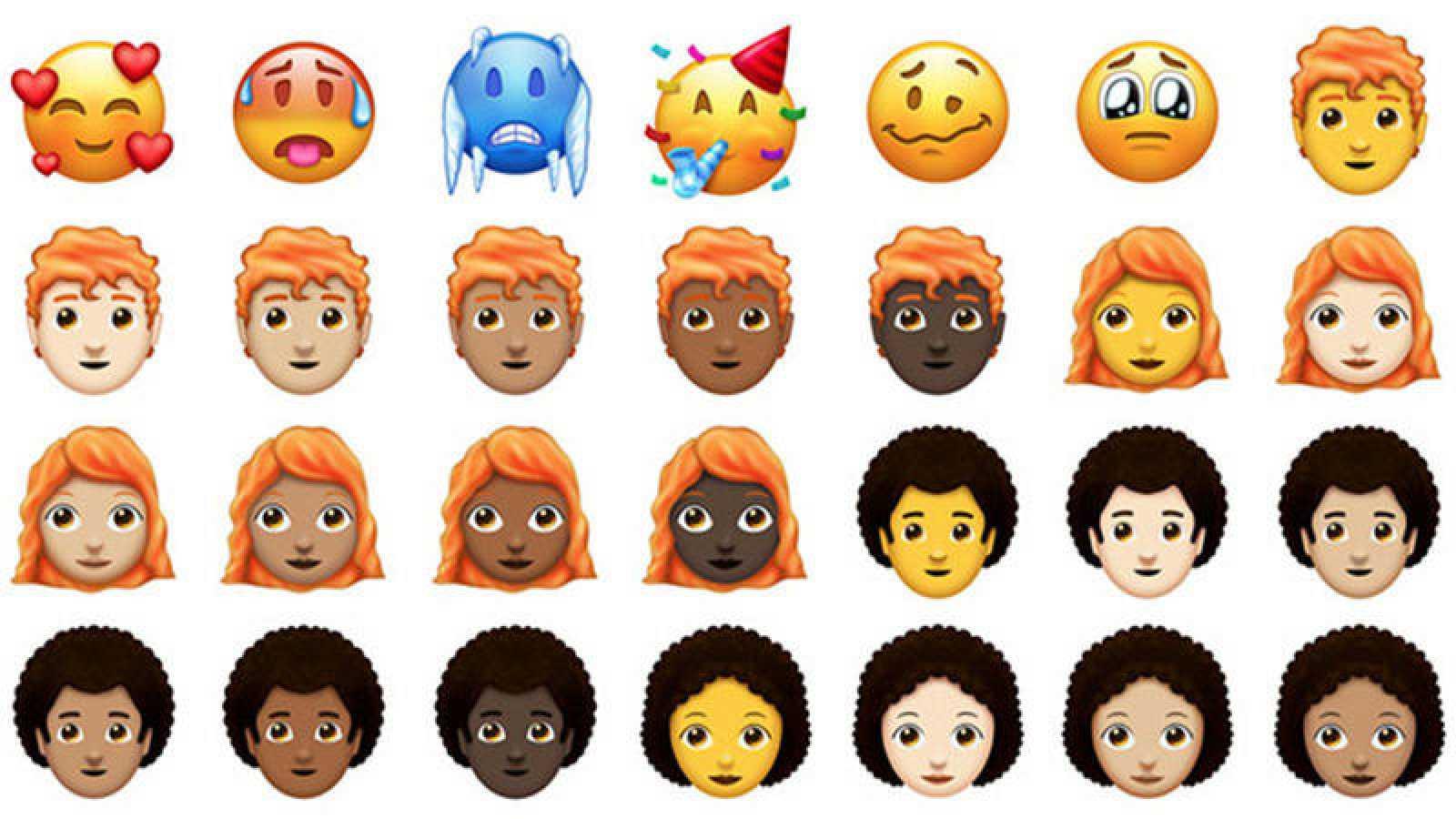 Nuevos emojis que se incorporarán a los smartphones en la segunda mitad de 2018.