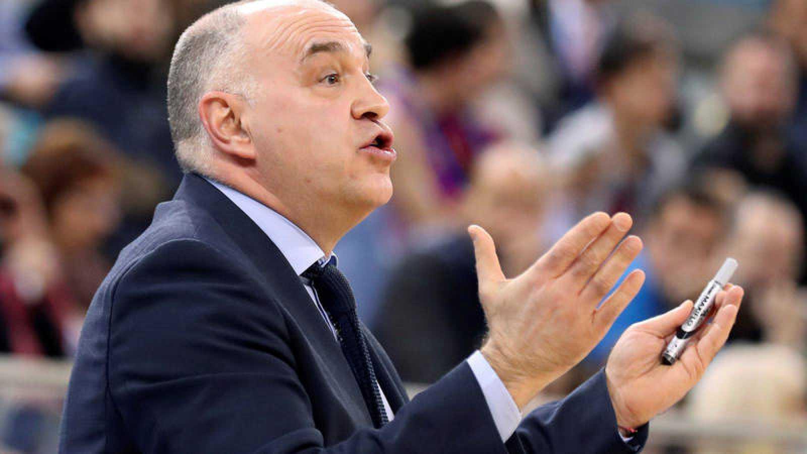 El entrenador del Real Madrid, Pablo Laso.