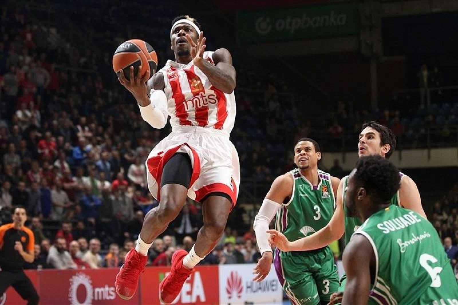 El Estrella Roja venció a Unicaja en Belgrado.